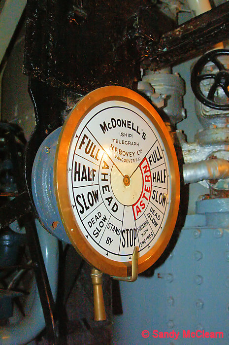 Engine Room Telegraph: HMCS SACKVILLE MACHINERY