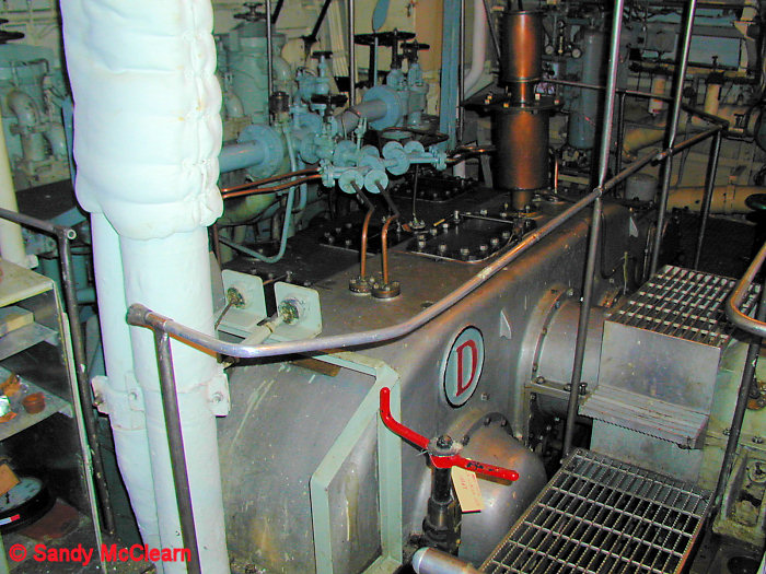 Items 11 to 25 cover the engine room in ex-HMCS TERRA NOVA.