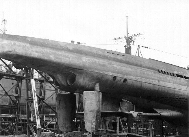 The stern portion of U889  U 889