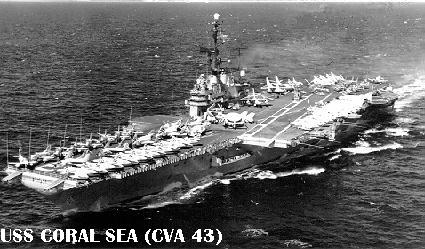 'Coral Sea following her SCB 110A reconstruction, undertaken at Puget Sound Naval Shipyard in 1957-60.' from the web at 'http://www.hazegray.org/navhist/carriers/coralsea/coral06.jpg'