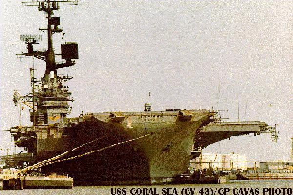 'Coral Sea, again1_b@b_1Norfolk, in essentially her final  configuration.' from the web at 'http://www.hazegray.org/navhist/carriers/coralsea/coral07.jpg'