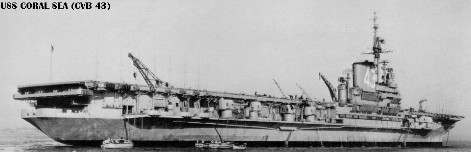 'USS Coral Sea as completed, starboard side.' from the web at 'http://www.hazegray.org/navhist/carriers/coralsea/coral11.jpg'