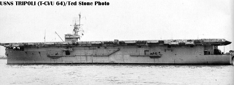 t.cve ... 1952 and operated with civilian crew under MSTS control as T-CVE 64. Redesignated as a utility carrier (CVU 64 12 June 1955 and operated as T-CVU 64.
