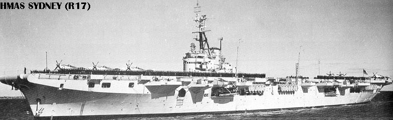 Hmas Sydney R17 A214 P241 L134 Was A Majestic Cl Light Aircraft Carrier Operated By The Royal Australian Navy Ran She Built For